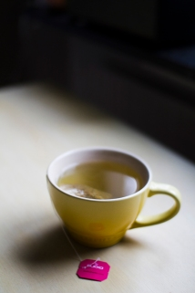 "A cup of Pukka herbal tea ""Love"" to still our hunger"